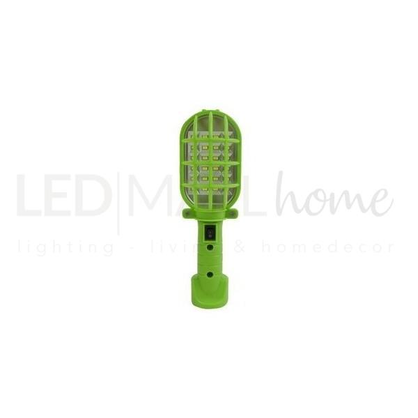 TORCIA verde MILLE USI con gancio portatile - 150 lumen