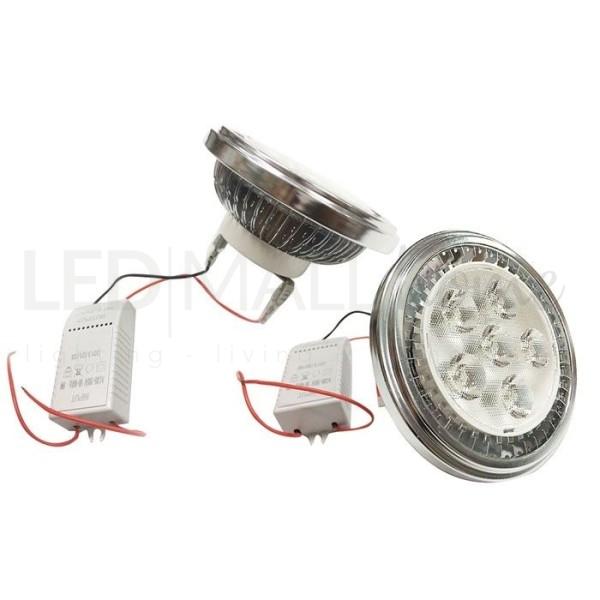 MODULO LAMPADA FARETTO AR111 LED 9W BIANCO FREDDO CON DRIVER INCLUSO FARETTO SPOTLIGHT ALOGENO IODURI SAP