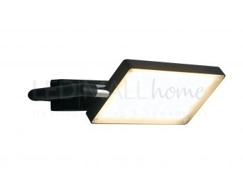 Flash led lampada da parete nera l applique moderno