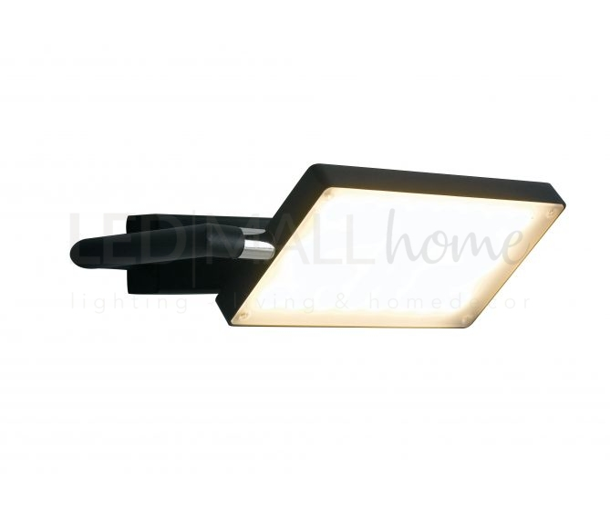 Applique a led nero orientabile a led 15 watt 3200 kelvin